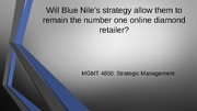 Blue Nile Case Presentation Assignment