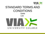 Standard terms and conditions
