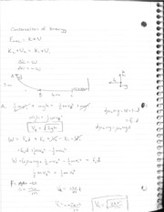 PH 105 Conservation of Energy Notes