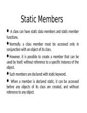static members of a class.ppt