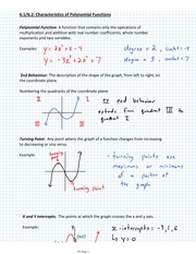 Introduction to Polynomial Notes