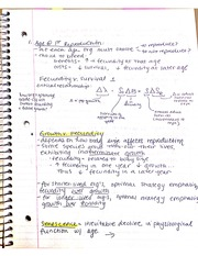 Fecundity Notes