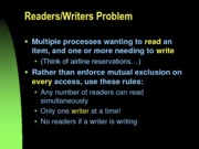 CSCI 3120 Reader Writer problem with semaphores