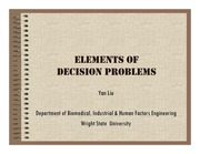 Lecture Notes on Elements of Decision Problem
