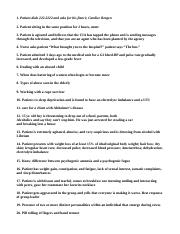 Mental Health Specialty Questions.doc