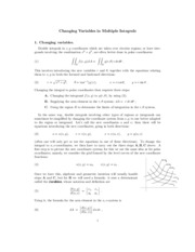 Changing Variables in Multiple Integrals study guide