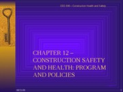 CHAPTER 12 CONSTRUCTION SAFETY AND HEALTH