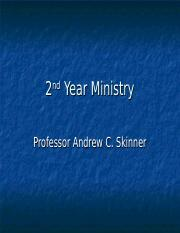 211 (8) 2nd Year Ministry (8).ppt