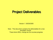 ProjectDeliverables.1-Fall2005