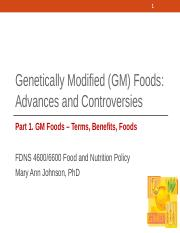 09-1 GM Foods - Terms, Benefits, Foods 2016 Part 1.ppt