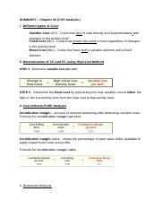 chapter 22 - Summary  - CVP Analysis (1).docx