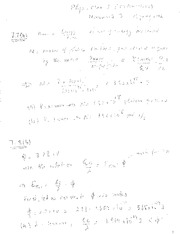 P-Chem II Course HWK 3 solutions