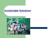 ES Chapter 23 Sustainable Solutions