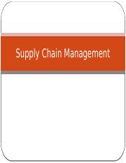 16. Supply Chain Management