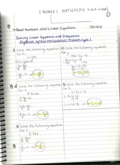 MAT 1033 Linear Equations