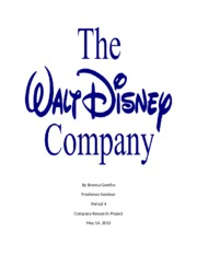 Disney Company Research Project