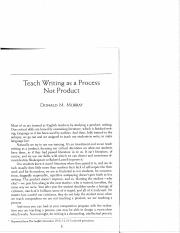 donald murray writing process (donald m murray) writing as a mode of a reader second edition, revised and updated teach writing as a process not product (donald m murray.