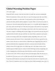 Global Warming Position Paper.docx