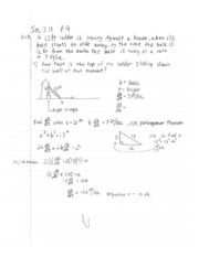 Calculus1 Notes 9 Pythagorean Theorem