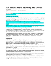 4 Are Youth Athletes Becoming Bad Sports - Moral Development Article #4.1