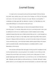 this i believe essay this i believe essay what would you do to  2 pages journal essay