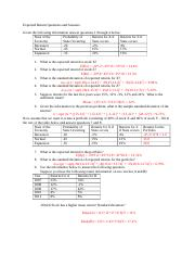 FIN Expected Return Questions and Answers.docx