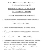 [D] Section 15.3 - Conservation of Linear Momentum