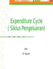 Ecpenditure cycle(5)