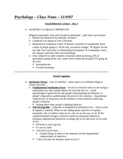 Class Notes - 11-9-07