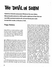 The Devil in Salem article
