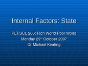Internal Factors - State