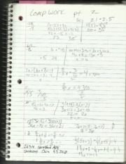 Elementary Algebra II Computer Work Notes