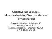 Carbohydrates Lecture 1 spring 2012 animated