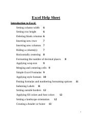 Excel Help Sheet.docx