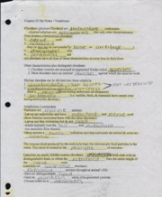 BIO II Vertebrates Notes Rolla Sr. High BIOLOGY Biology II-Spring 2010 Vertebrates Study Guide