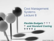 CMS_Lecture_8_-_Standard_Costing_1
