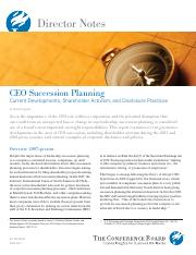 CEO Succession Planning - Current Developments, Shareholder Activism, and Disclosure Practices.pdf