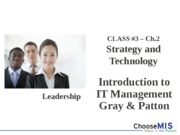 Class 3 - Strategy and Technology