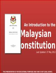 MPW 2133 - CH3 -- The Constitution and Political Process