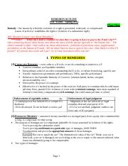 Remedies Outline Spr-2014