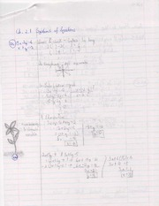2.1 Systems of Equations