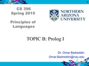 TOPIC B - PROLOG I