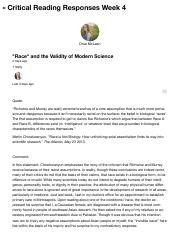 "GWSS1006_006F16: ""Race"" and the Validity of Modern Science"