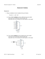 ECE 331 - Spring 2015 - HW7 Solutions