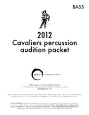 Cavaliers 2012  percussion audition packet bass