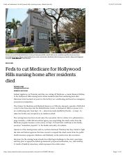 Feds cut Medicare for Hollywood Hills nursing home | Miami Herald.pdf