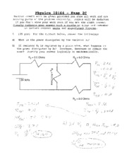 physics final exam version 2c 2 Physics 101 spring 2009 final exam: thursday april 9, 2009 (12:00 -15:00) old phys101 final exams: 2002 midterm 2 version 2c.