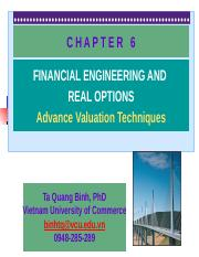 CHAPTER 6- Financial Engineering and Real Options