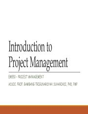 Week 1 Lecture 2 - Introduction to Project Management
