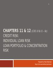 Chapters 11 and 12_Credit Risk.pptx